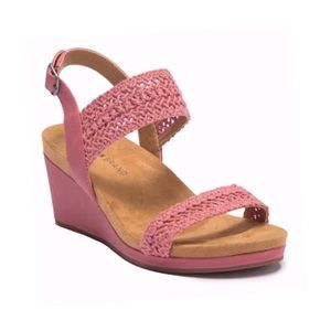 Lucky Brand • Pink Koenn Crochet Wedge Sandals